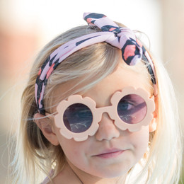 Blueberry Bay Flower Sunnies Sunglasses - Blush