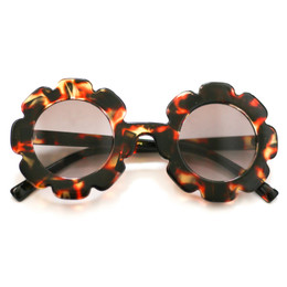 Blueberry Bay Flower Sunnies Sunglasses - Brown