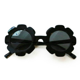 Blueberry Bay Flower Sunnies Sunglasses - Black
