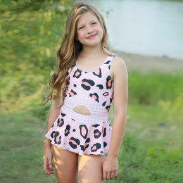 Blueberry Bay Pink Moon Bay 1pc Swimsuit