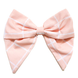 Be Girl Clothing        Bunny Winks Classic Bow - Pink Windowpane
