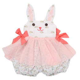 Be Girl Clothing        Bunny Winks Luca Bunny Skirted Bubble Romper