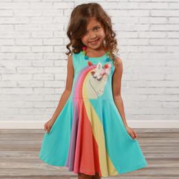 Lemon Loves Lime  Unicorn Friend Dress - Aruba Blue