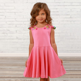 Lemon Loves Lime  Dancing Floral Dress - Pink Lemonade