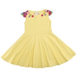 Lemon Loves Lime  Dancing Floral Dress - Butter
