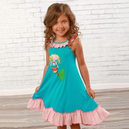 Lemon Loves Lime  My Mermaid Dress - Scuba Blue