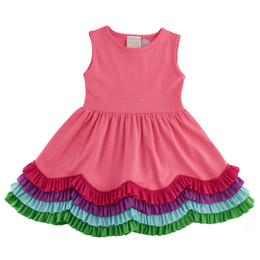 Lemon Loves Lime  Ombre Dress - Pink Lemonade
