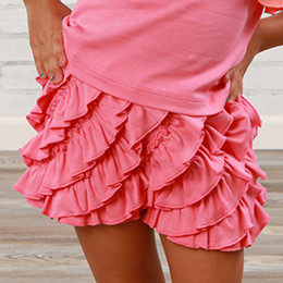 Lemon Loves Lime  Ruffle Skort - Pink Lemonade