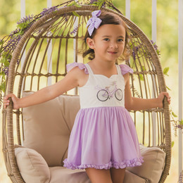 Evie's Closet  Lovely In Lavender Bubble Romper