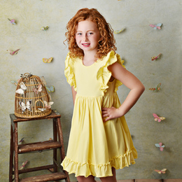 Serendipity Clothing  Bella Pocket Dress - Lemon