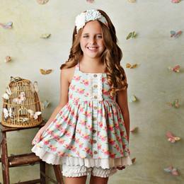 Serendipity Clothing  French Rose 3pc Tunic, Eyelet Shortie, & Headband