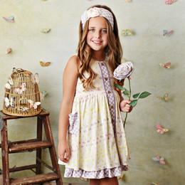 Serendipity Clothing  Lemon Bloom 3pc Pocket Dress, Shortie, & Headband