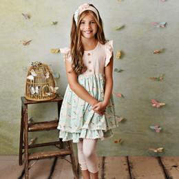 Serendipity Clothing  Blush Petal 3pc Dress, Capri Legging, & Headband