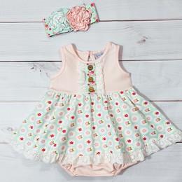 Serendipity Clothing  Sweet Pea 2pc Bubble Dress & Headband