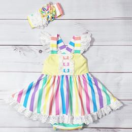 Serendipity Clothing  Over The Rainbow 2pc Bubble Dress & Headband