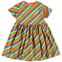 Molo     Chasity Stripe Organic Knit Dress - Diagonal Rainbow