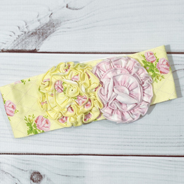 Swoon Baby by Serendipity  Lemon Rose Headband