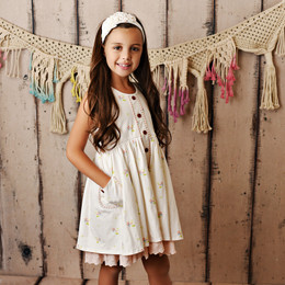 Swoon Baby by Serendipity  Vintage Bloom Prim Pocket Dress w/Eyelet