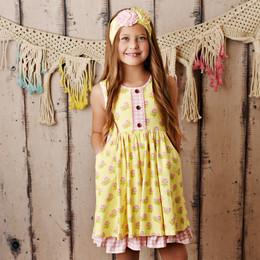 Swoon Baby by Serendipity  Lemon Rose Bliss Pocket Dress