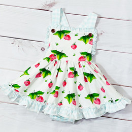 Swoon Baby by Serendipity  Strawberry Fields Dainty Bubble Dress