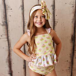 Swoon Baby by Serendipity  Lemon Rose 2pc Tunic Swimmy