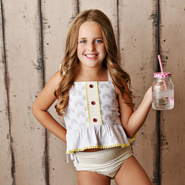 Swoon Baby by Serendipity  Rainbow Fleur 2pc Tunic Swimmy