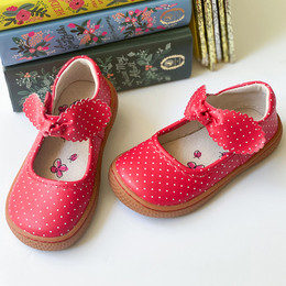 Livie & Luca   Knotty Shoes - Red Polka Dot (Spring 2021)
