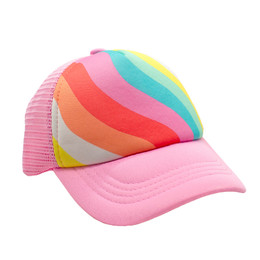 Feather 4 Arrow Rainbow Wave Hat - Tropical