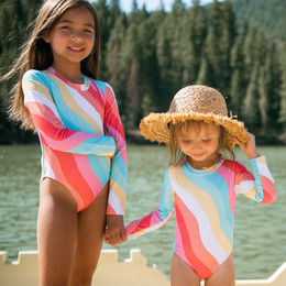 Feather 4 Arrow Wave Chaser 1pc Surf Swimsuit - Tropical