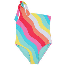 Feather 4 Arrow Day Dreamer 1pc Reversible One Shoulder Swimsuit - Tropical