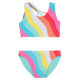Feather 4 Arrow Summer Sun 2pc Reversible Bikini Swimsuit - Tropical