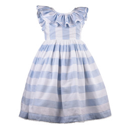 Cotton Kids  Blue Stripe Dress