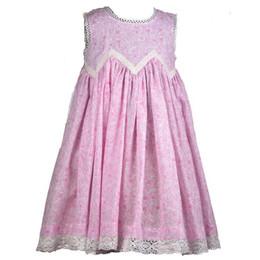 Cotton Kids  Pink Toile Lace Dress