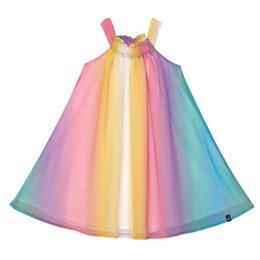 Deux Par Deux    Free To Dress Up Rainbow Chiffon Dress - Multi