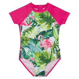 Deux Par Deux    Flamingo 1pc Rashguard Swimsuit