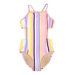 Shade Critters Summer Stripes Cutout Monokini 1pc Swimsuit - Coral Stripe