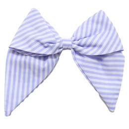 Be Girl Clothing        Lilac Dreams Classic Bow - Lilac Stripe