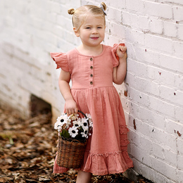 Ren & Rouge  Ruffle Twirl Dress