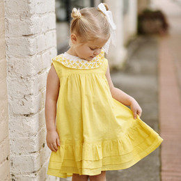 Ren & Rouge  Lemon Tiered Dress
