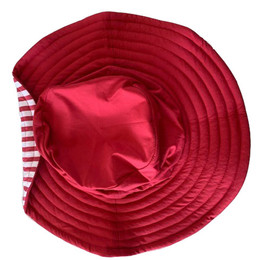 Planet Sea Red Adjustable Hat w/Stripes