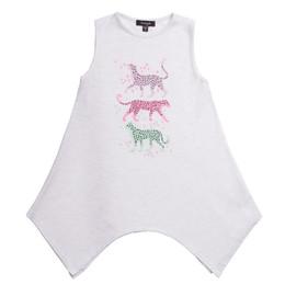 Imoga       Beth Embellished Graphic Knit Tunic - Cheetah Oatmeal