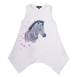 Imoga       Beth Embellished Graphic Knit Tunic - Zebra Oatmeal