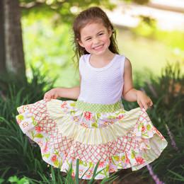Haute Baby    Mae Garden Twirly Dress