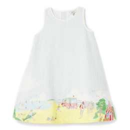 Joules Bunty Woven Dress - Beach Scene
