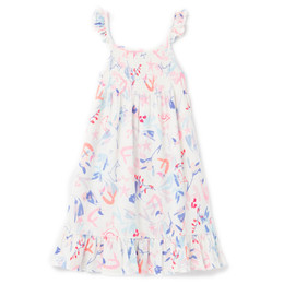 Joules Lucia Knit Dress - White Mermaids