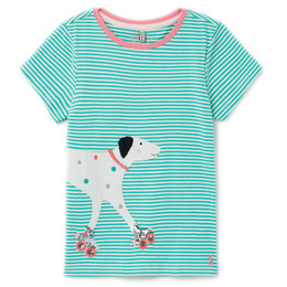 Joules Astra Knit Tee - Green Dog