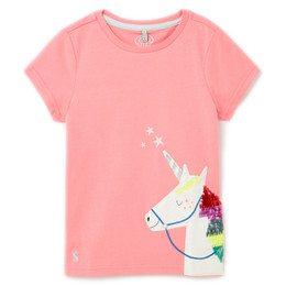 Joules Astra Knit Tee - Pink Unicorn