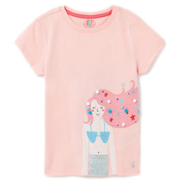 Joules Astra Knit Tee - Pink Mermaid
