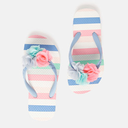 Joules Flip Flops - Multi Stripes