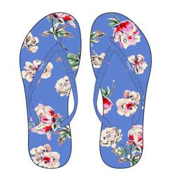 Joules Flip Flops - Blue Floral